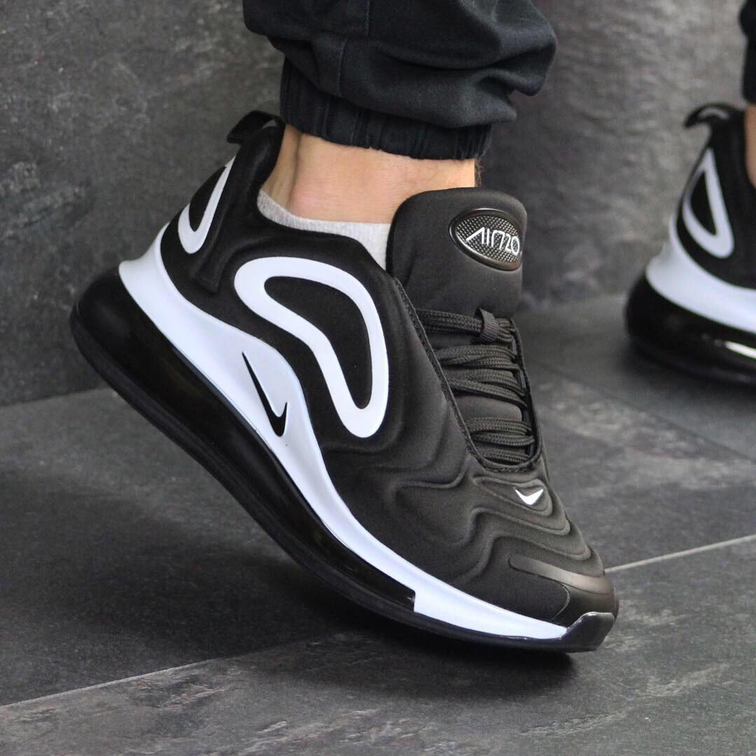 710c43fd Кроссовки мужские Nike 7615 чёрные с белым демисезонные купить распродажа -  Интернет-магазин