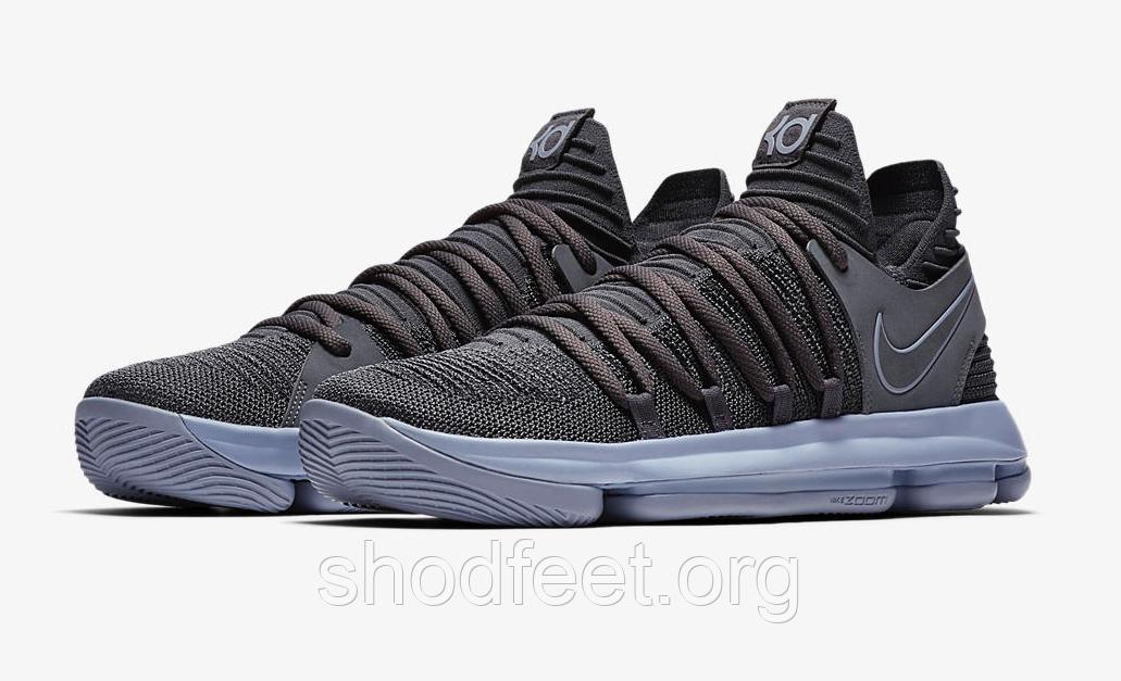 Мужские баскетбольные кроссовки Найк Zoom KD 10 Dark Grey