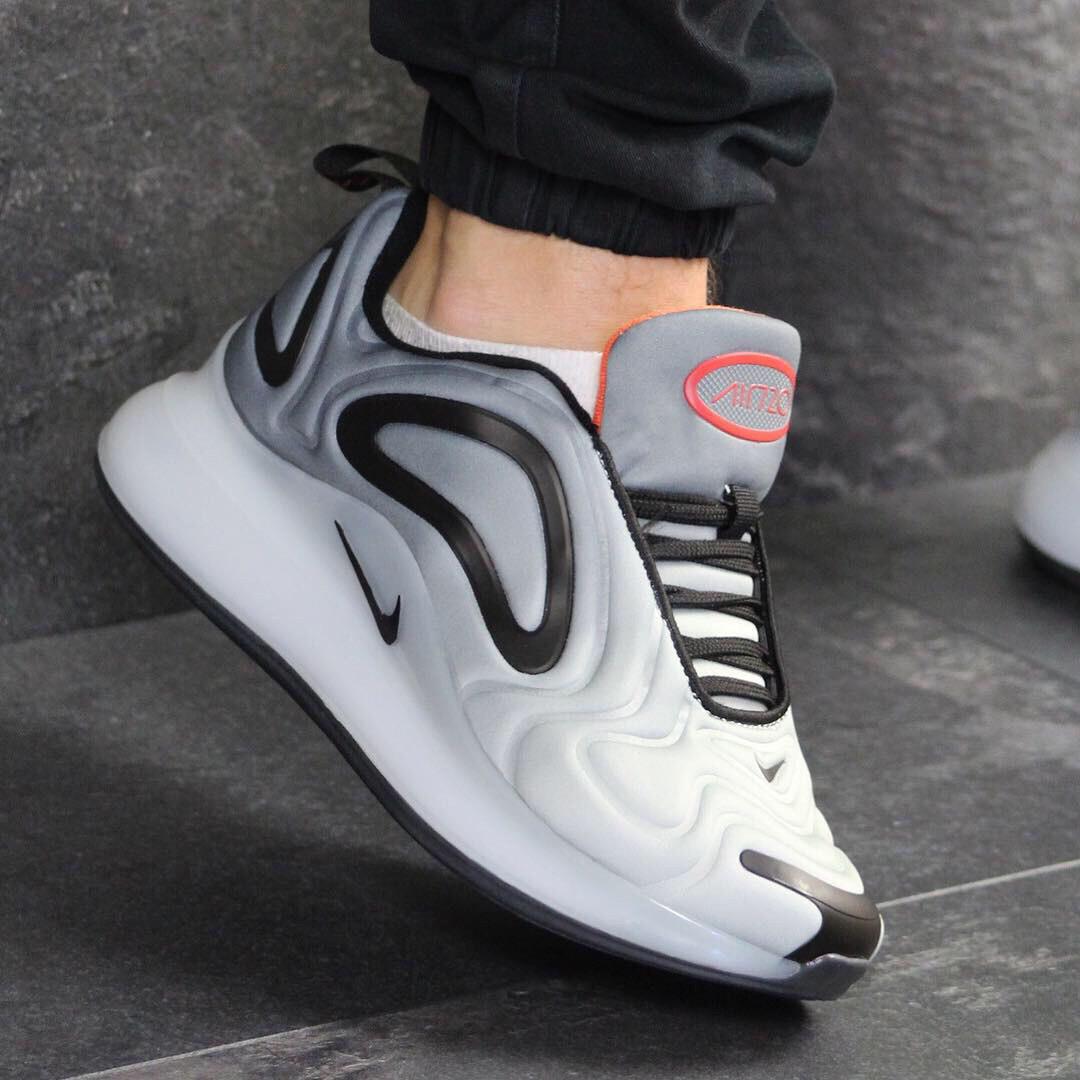 586480a155a28 Качественные мужские кроссовки 7614 Nike Серые с чёрным демисезонные купить  не дорого в интернет магазине