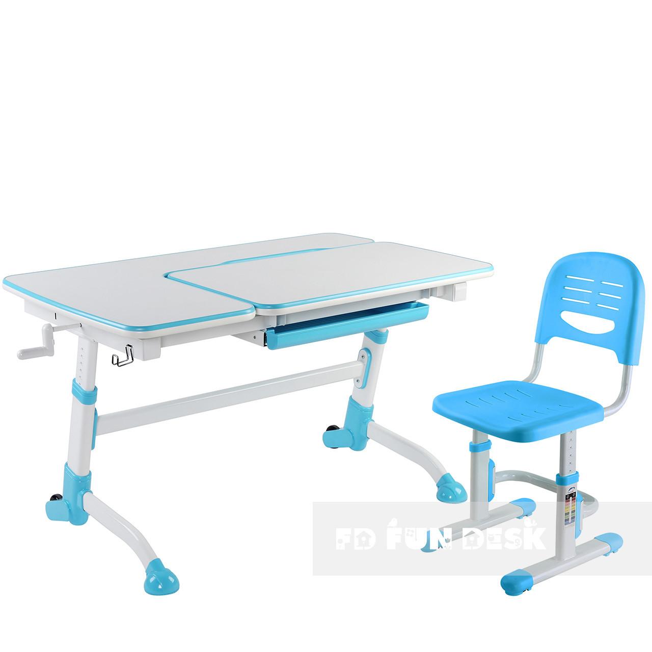 Комплект подростковая парта Amare Blue + детский стул SST3 Blue FunDesk