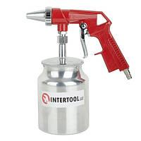 ✅ Пистолет пескоструйный пневматический с металлическим бачком INTERTOOL PT-0707