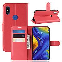 Чехол-книжка Litchie Wallet для Xiaomi Mi Mix 3 Красный