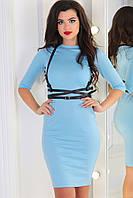 Классическое облегающее платье из трикотажа с рукавом до локтя, норма и полубатал
