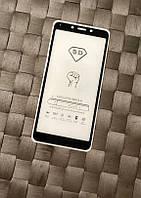 Качественное защитное стекло 5D на Xiaomi Redmi 6A. Клеется по всей поверхности экрана.