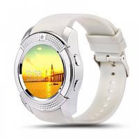Часы-телефон Smart Watch V8 White