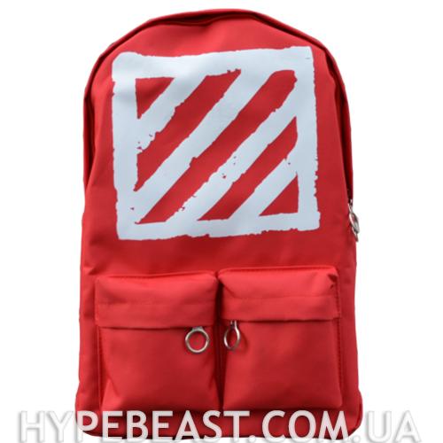 bbb5b0ed7f75 Рюкзак Off-White Virgil Abloh Red красный / рюкзак офф вайт красный -  Интернет-
