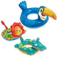 58221 Круг 71*56 см животные 3в.,Надувной круг для купания, Детский круг для плавания, Круг игрушка надувная