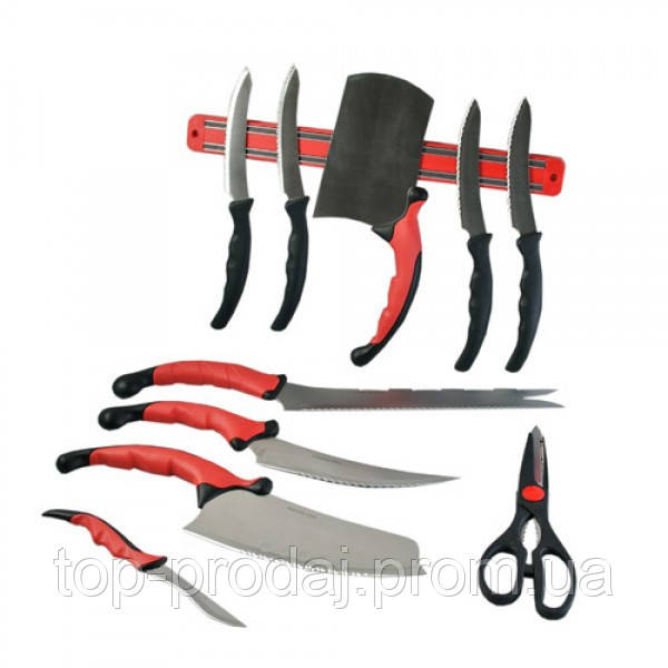 Набор ножей Contour Pro, Ножи из нержавеющей стали, Ножи кухонные с с магнитным держателем, Ножи на кухню