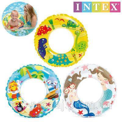 59242 Круг 61см 3цв.,Детский надувной круг, Круг для воды детский, Надувной круг-игрушка для плавания от 3 лет