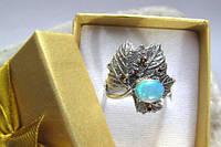 """Оригинальное кольцо  """"Листочек"""", размеры 18, 18.5, 19.5, 20.3 от студии  LadyStyle.Biz, фото 1"""