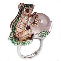 """Оригинальное кольцо  """"Лягушонок"""", размеры 18, 18.8 от студии  LadyStyle.Biz, фото 1"""
