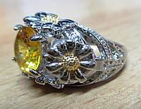 """Оригинальное кольцо  """"Ромашка"""", размер 17.8 от студии  LadyStyle.Biz, фото 1"""