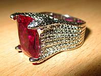 """Крупное кольцо  """"Рубиновое"""", 19 от студии  LadyStyle.Biz, фото 1"""