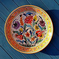 Керамическое блюдо d 37 см. Риштан, Узбекистан