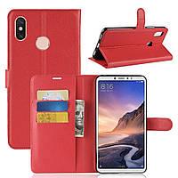Чехол-книжка Litchie Wallet для Xiaomi Mi Max 3 Красный