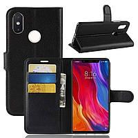 Чехол-книжка Litchie Wallet для Xiaomi Mi 8 SE Черный