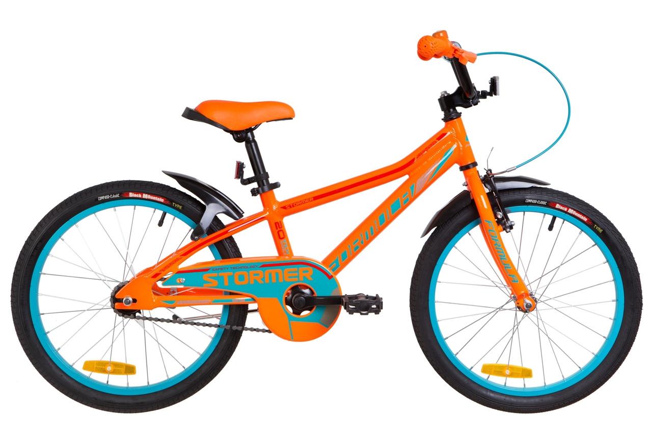"""Велосипед 20"""" Formula STORMER 14G Al с крылом Pl 2019 (оранжевый )"""