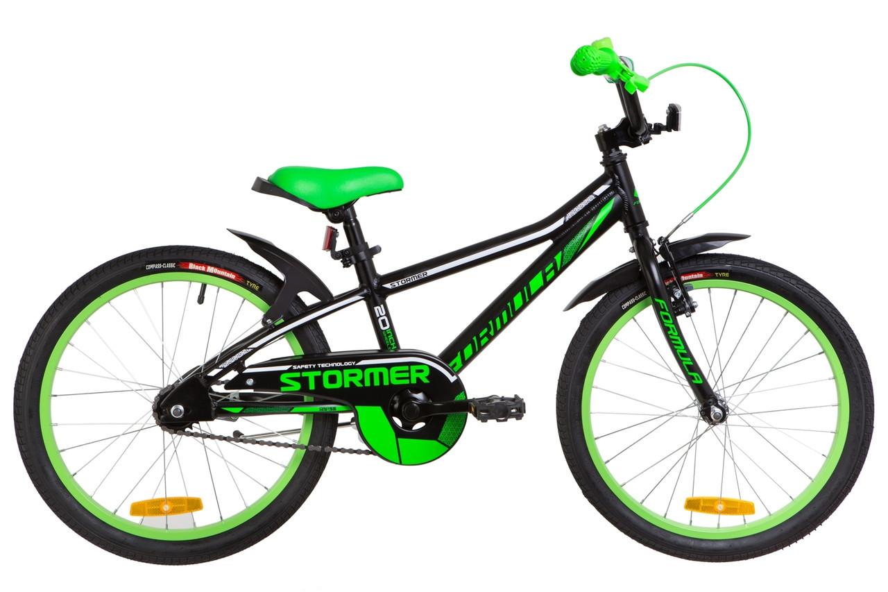 """Велосипед 20"""" Formula STORMER 14G Al с крылом Pl 2019 (черный (м))"""