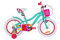 """Велосипед 16"""" Formula CREAM 14G Al с крылом St, с корзиной Pl 2019 (бело-розовый)"""