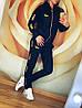 """Женский спортивный костюм: штаны и кофта бомбер с золотистыми лампасами, реплика """"Puma"""", фото 4"""