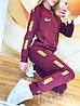 """Женский спортивный костюм: штаны и кофта бомбер с золотистыми лампасами, реплика """"Puma"""", фото 2"""