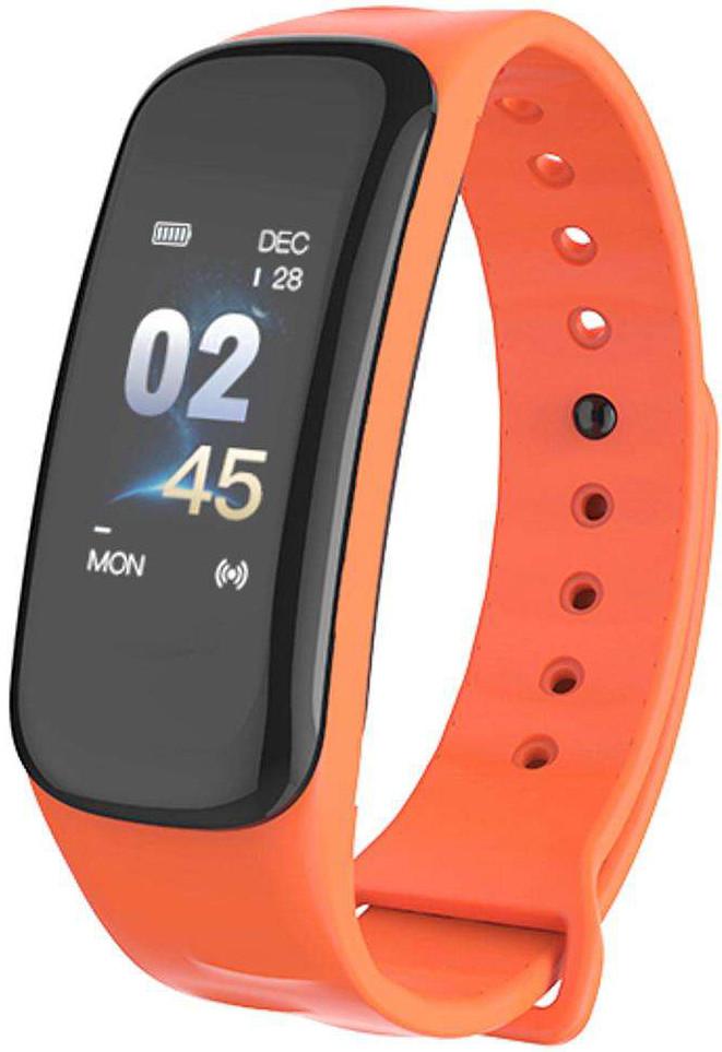 Фитнес браслет Lerbyee C1 Plus | IP67 | Тонометр | Оранжевый
