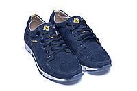 Мужские кожаные летние кроссовки, перфорация Colambia Blue (реплика)