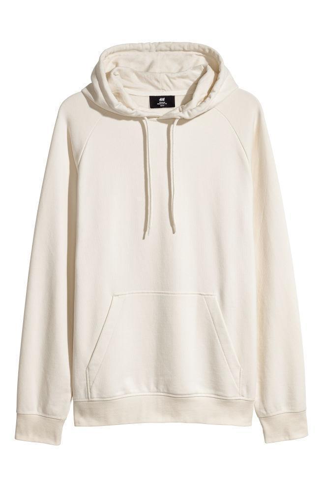 Худи с рукавами реглан H&M beige размер XL