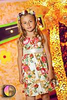 Детское штапельное платье белое