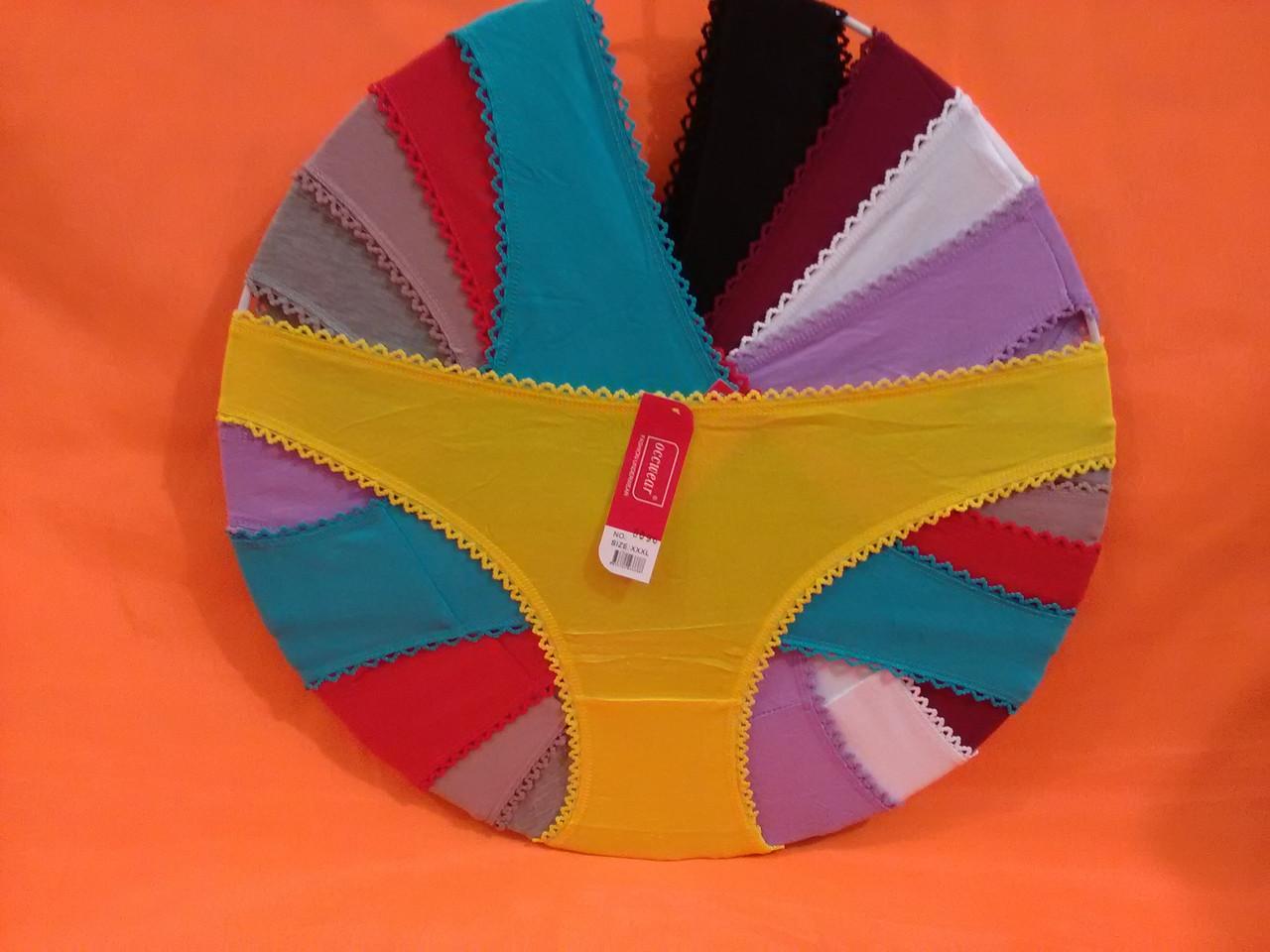 Трусы хлопок 44-48рр, один цвет в упаковке