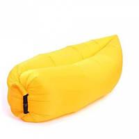 Надувной матрас-гамак Ламзак Original 2,2м. Yellow