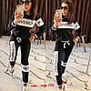 Молодежный женский спортивный костюм: штаны и кофта без змейки, реплика Givenchy, фото 6