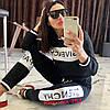 Молодежный женский спортивный костюм: штаны и кофта без змейки, реплика Givenchy, фото 9
