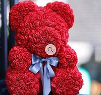 ✅ Мишка из 3D Роз,  30 см. + красивая упаковка (Ведмедик з троянд)