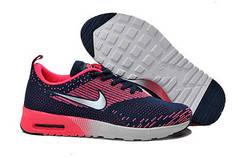 Женские кроссовки Nike Air Max Thea Flyknit сине-серебряные