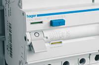 Устройство защитного отключения 4x25A, 30 mA, A, 4м hager