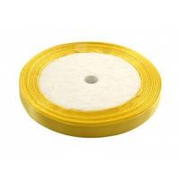 Лента 0,6 см атласная желтая (апельсиновая)