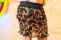 Детская юбка плиссе леопард
