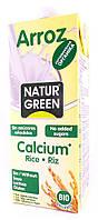 Органическое рисовое растительное молоко с кальцием NaturGreen  1 л
