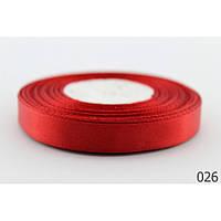 Лента 0,6 см атласная красная