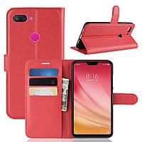 Чехол-книжка Litchie Wallet для Xiaomi Mi 8 Lite Красный