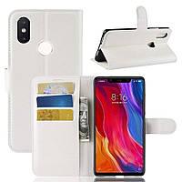 Чехол-книжка Litchie Wallet для Xiaomi Mi 8 SE Белый