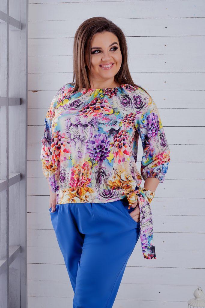 Женская блуза расцветка 2 8180