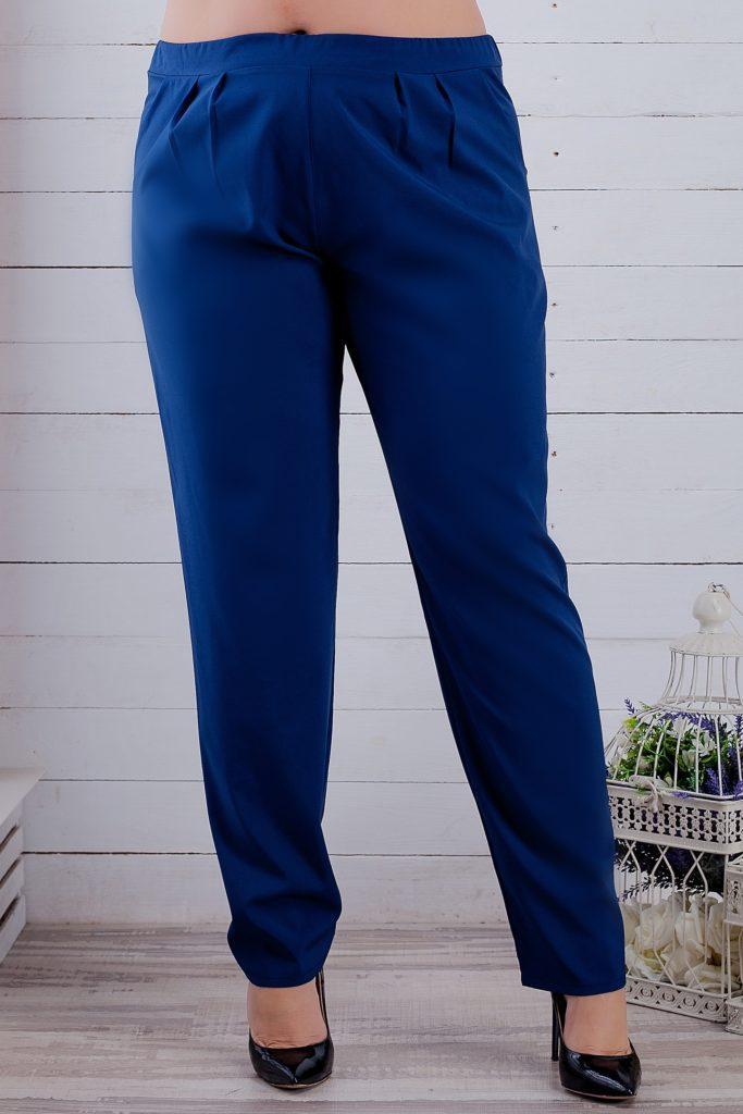 Женские брюки темно-синие до косточек 8144