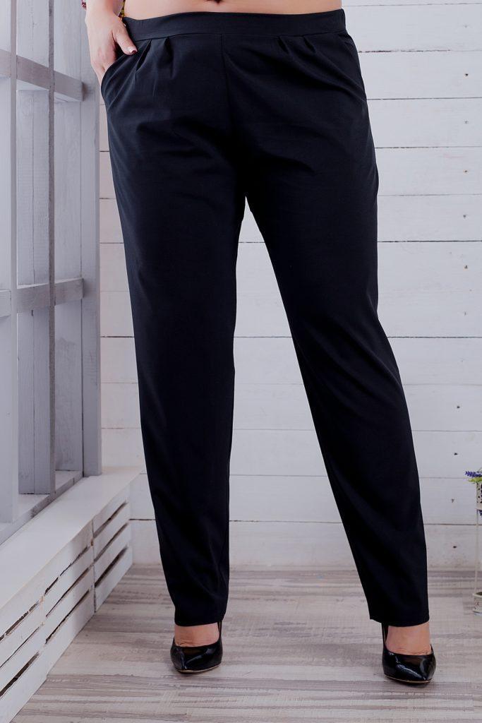 Женские брюки черные до косточек 8144