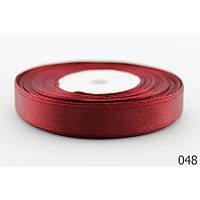Лента 0,6 см атласная бордо