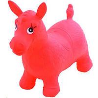 Прыгун-лошадка пони MS 0001 (Красный) 60х25х40 см