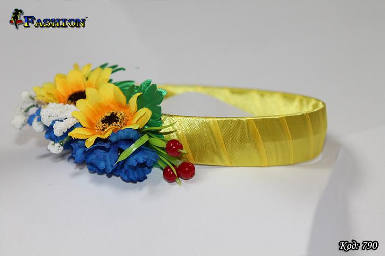 Патриотичный обруч на голову Украиночка
