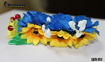 Патриотичный обруч на голову Украиночка, фото 3