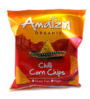Кукурузные чипсы органические Чили Без глютена Amaizin 75 г